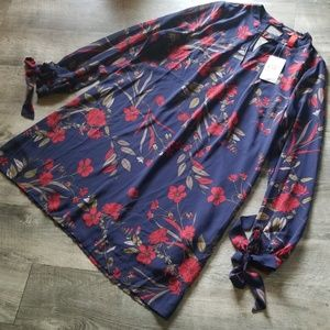 NWT navy floral dress size M